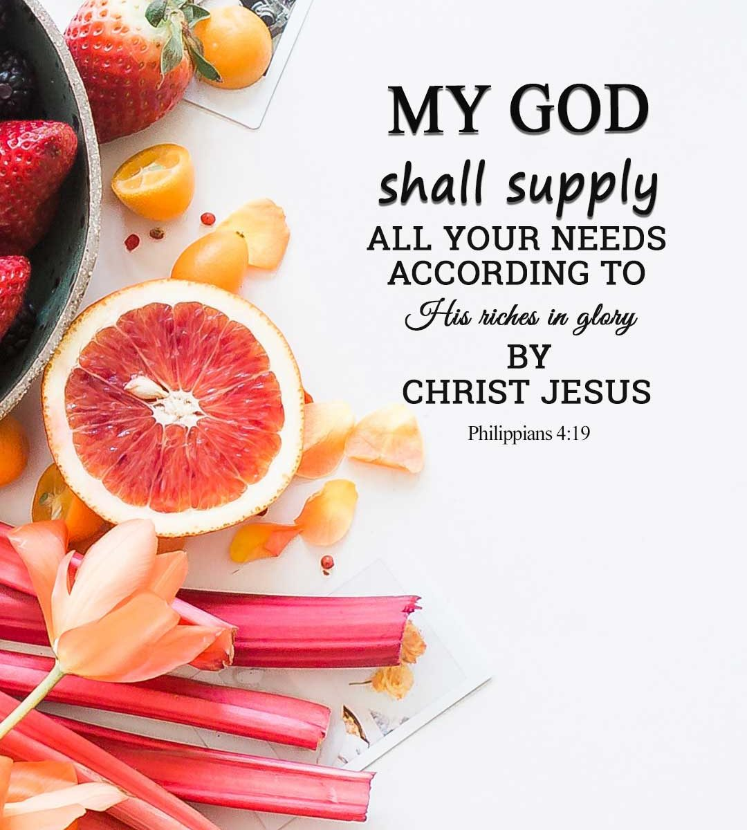 my god shall supply all your needs according to his riches in ...